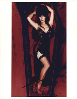 ELVIRA (MISTRESS OF THE DARK) - AUTOGRAPHED SIGNED PHOTOGRAPH