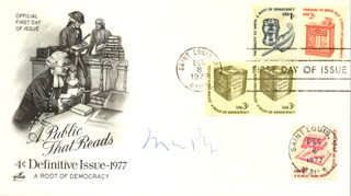 MARIO PUZO - FIRST DAY COVER SIGNED