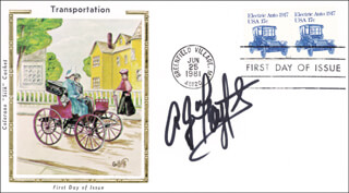 A. J. FOYT - FIRST DAY COVER SIGNED