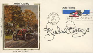 RICHARD PETTY - FIRST DAY COVER SIGNED