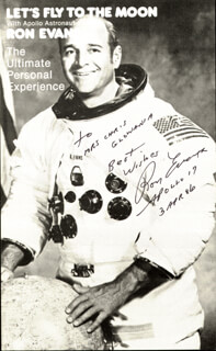 CAPTAIN RONALD E. EVANS - AUTOGRAPHED INSCRIBED PHOTOGRAPH 04/03/1986