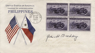 JOHN H. BRADLEY - FIRST DAY COVER SIGNED