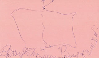 BUTTERFLY McQUEEN - SELF-CARICATURE SIGNED