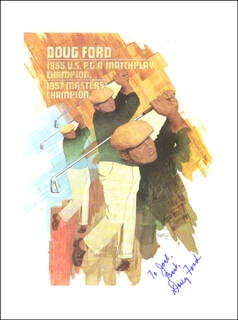DOUG FORD - INSCRIBED BOOK PAGE SIGNED