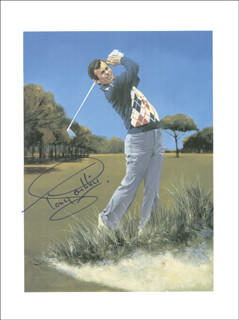 Autographs: TONY JACKLIN - PRINTED ART SIGNED IN INK