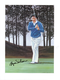 BYRON NELSON - PRINTED ART SIGNED IN INK
