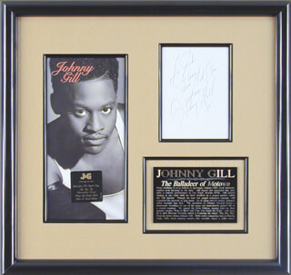 JOHNNY GILL - AUTOGRAPH NOTE SIGNED 1991