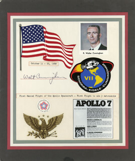 COLONEL WALTER CUNNINGHAM - COMMEMORATIVE COVER SIGNED