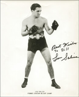 LOU SALICA - AUTOGRAPHED INSCRIBED PHOTOGRAPH