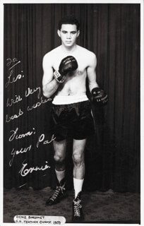 ERNIE BARONET - AUTOGRAPHED INSCRIBED PHOTOGRAPH