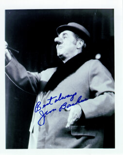 JIM BACKUS - AUTOGRAPHED SIGNED PHOTOGRAPH
