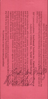 MARLA GIBBS - INSCRIBED TICKET SIGNED 04/25/1989