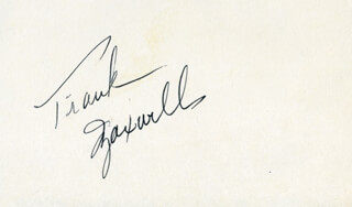 FRANK MAXWELL - AUTOGRAPH