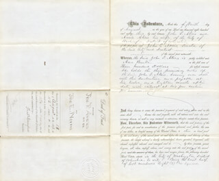 FREDERICK DOUGLASS - DEED SIGNED 08/18/1883 - HFSID 148594
