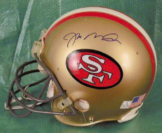 Autographs: JOE MONTANA - FOOTBALL HELMET SIGNED