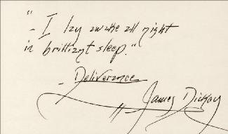 Autographs: JAMES DICKEY - AUTOGRAPH QUOTATION SIGNED