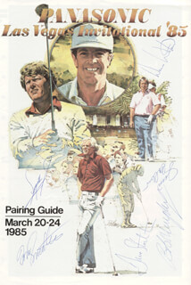 FUZZY ZOELLER - PROGRAM SIGNED CIRCA 1985 CO-SIGNED BY: DAVE STOCKTON, BOB MURPHY, JIM COLBERT, DENIS WATSON, SMOTHERS BROTHERS (TOM SMOTHERS)
