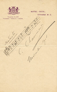 CECILE CHAMINADE - AUTOGRAPH MUSICAL QUOTATION SIGNED 11/1901