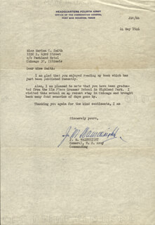 GENERAL JONATHAN M. WAINWRIGHT IV - TYPED LETTER SIGNED 05/24/1946