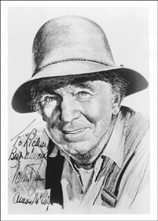 WALTER BRENNAN - INSCRIBED ILLUSTRATION SIGNED