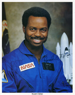 RONALD E. McNAIR - PRINTED PHOTOGRAPH SIGNED IN INK