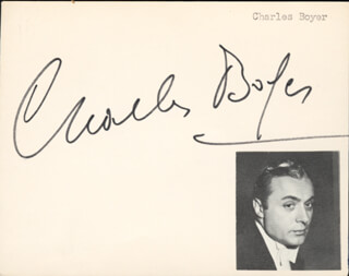 CHARLES BOYER - AUTOGRAPH