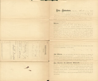 FREDERICK DOUGLASS - DOCUMENT SIGNED 11/07/1881 - HFSID 151212