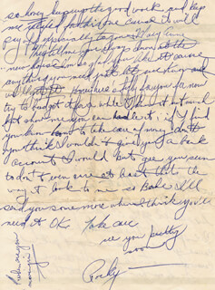 ROCKY MARCIANO - AUTOGRAPH LETTER SIGNED CIRCA 1954