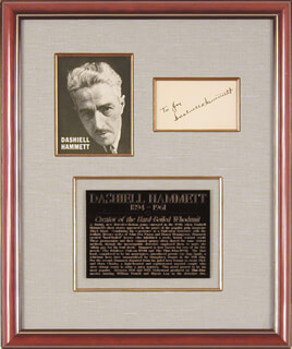 DASHIELL (SAMUEL) HAMMETT - INSCRIBED SIGNATURE