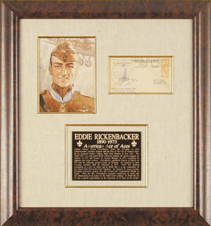 MAJOR EDWARD V. EDDIE RICKENBACKER - COMMEMORATIVE ENVELOPE SIGNED