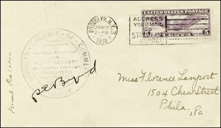 Autographs: REAR ADMIRAL RICHARD E. BYRD - COMMEMORATIVE ENVELOPE SIGNED CO-SIGNED BY: BERNT BALCHEN