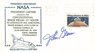 JOHN GLENN - COMMEMORATIVE ENVELOPE SIGNED