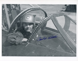 Autographs: ENOLA GAY CREW (PAUL W. TIBBETS) - PHOTOGRAPH SIGNED