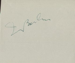 IRVING BERLIN - AUTOGRAPH CO-SIGNED BY: ROGER LIVESEY
