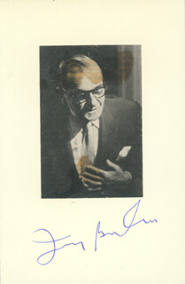 Autographs: IRVING BERLIN - PHOTOGRAPH MOUNT SIGNED