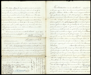 Autographs: WILLIAM BRENT - ANNOTATED DEED SIGNED 06/18/1845 CO-SIGNED BY: THOMAS C. DOWN, BENJAMIN R. MORSELL