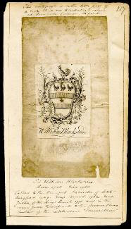 Autographs: SIR WILLIAM BLACKSTONE - BOOK PLATE SIGNED 1741