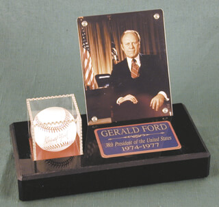 PRESIDENT GERALD R. FORD - AUTOGRAPHED SIGNED BASEBALL