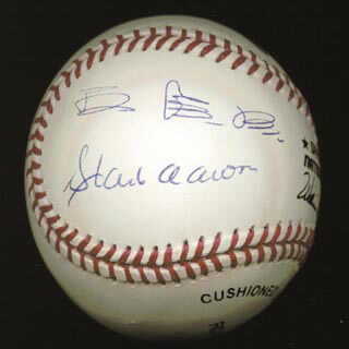 SADAHARU OH - AUTOGRAPHED SIGNED BASEBALL CO-SIGNED BY: HANK AARON