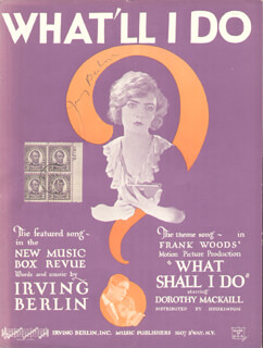 Autographs: IRVING BERLIN - SHEET MUSIC SIGNED