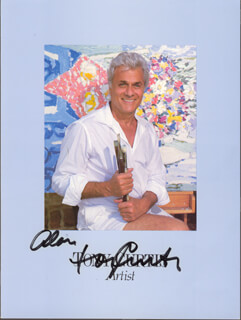 TONY CURTIS - INSCRIBED PAMPHLET SIGNED