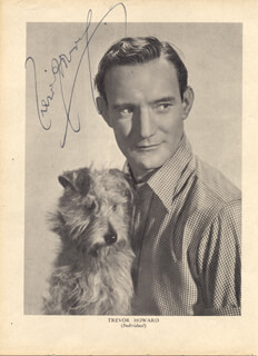 TREVOR HOWARD - MAGAZINE PHOTOGRAPH SIGNED