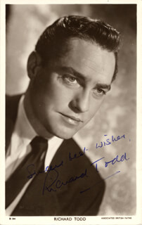RICHARD TODD - PICTURE POST CARD SIGNED