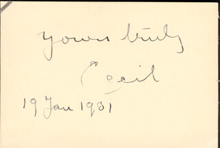 Autographs: ROBERT CECIL - SIGNATURE(S) 01/19/1931