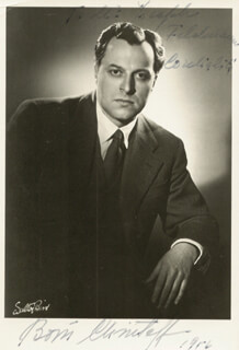 BORIS CHRISTOFF - AUTOGRAPHED INSCRIBED PHOTOGRAPH 1956
