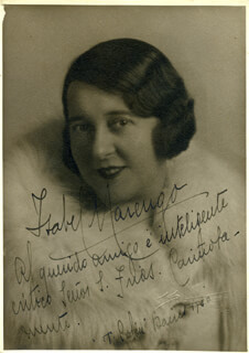 ISABEL MARENGO - AUTOGRAPHED SIGNED PHOTOGRAPH 1930