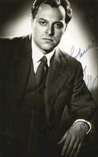 BORIS CHRISTOFF - AUTOGRAPHED INSCRIBED PHOTOGRAPH 1958