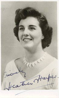 HEATHER HARPER - AUTOGRAPHED SIGNED PHOTOGRAPH