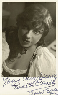 DAME EDITH COATES - AUTOGRAPHED SIGNED PHOTOGRAPH
