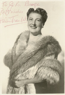 HELEN TRAUBEL - AUTOGRAPHED INSCRIBED PHOTOGRAPH